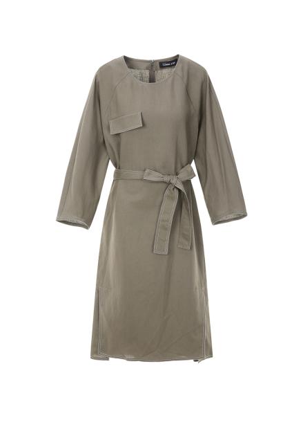 [30%할인/COMING STEP]Slit Point Belt Dress