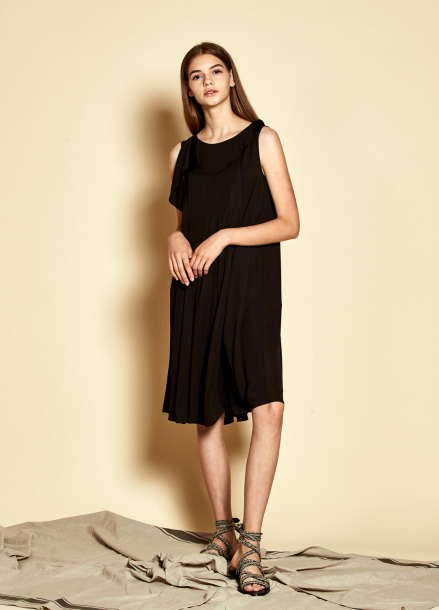 [35%할인/The Kstory] Sleeveless Frill Dress_ Black