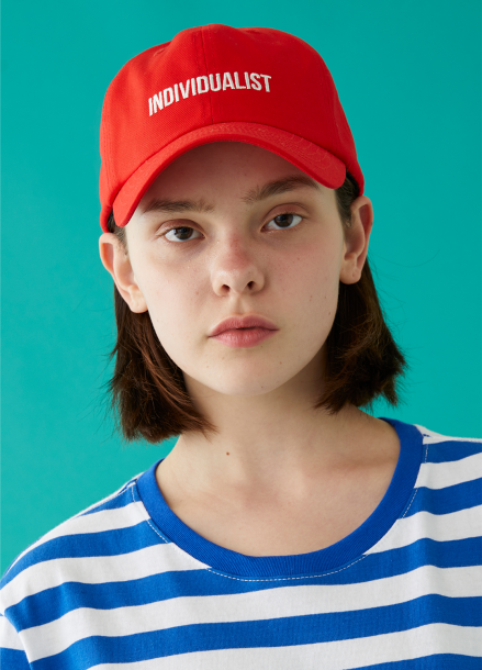 [MSKN2ND]INDIVIDUALIST BALL CAP RED