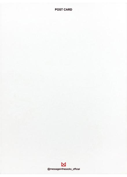[25%할인/MESSAGE IN THE SOCKS] POST CARD_PINK & WHITE