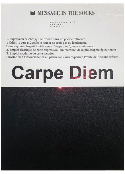 [25%할인/MESSAGE IN THE SOCKS] POST CARD_CARPE DIEM