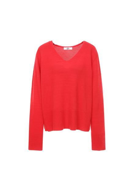 V Neck Short Knit Pullover