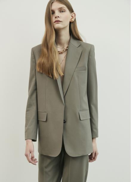 Basic Single Button Jacket
