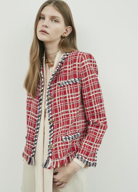 Fringe Point Tweed Jacket