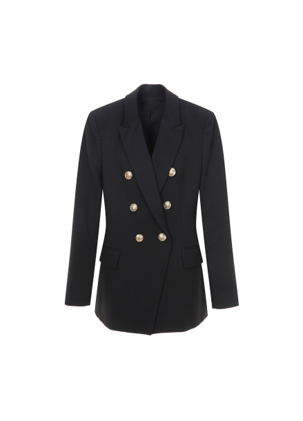 Gold Button Point Double Jacket