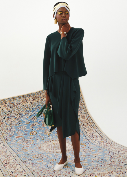 [J.Chung] Curtain Skirt