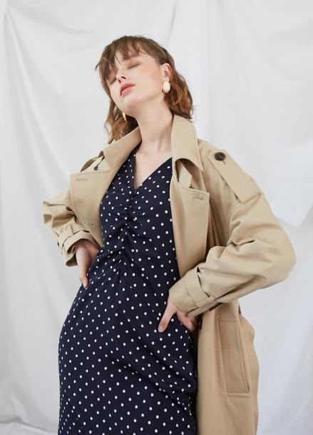 [5%할인/SALON DE YOHN] Midi Shirring Dress-Dot
