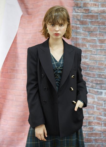[5%할인/SALON DE YOHN] Black Double-breasted Jacket