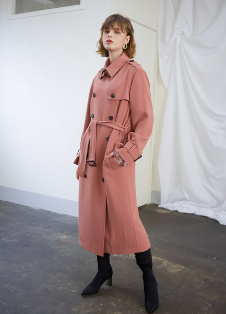 [인터뷰단독상품★30%할인/SALON DE YOHN] Interview Long Trench Coat_ Indi Pink