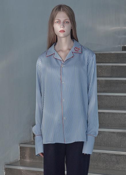 [5%할인/THE STUDIO K]18FW STRIPE PAJAMA SHIRT_BLUE