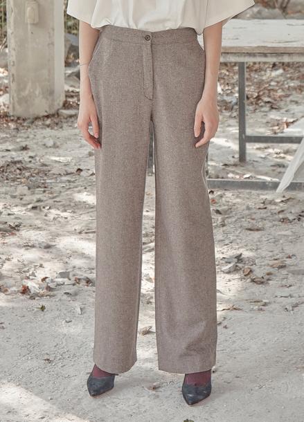 [5%할인/THE STUDIO K]18FW STRAIGHT PANTS_BROWN