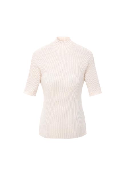 Slim-Fit Half Neck Short Sleeve Pullover