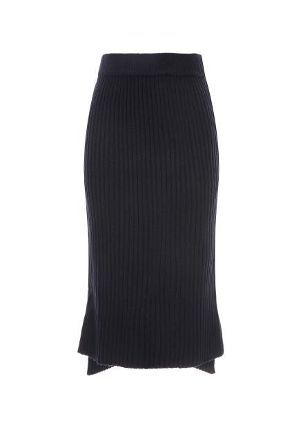 Slim Line Midi Knit Skirt