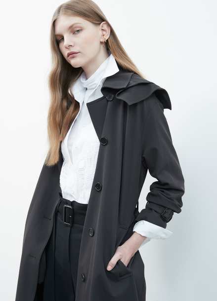 Hoodie Design Trench Coat