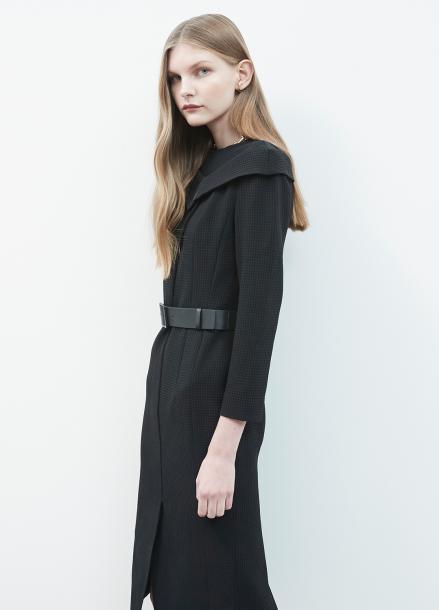 Off Shoulder Design Checked Dress