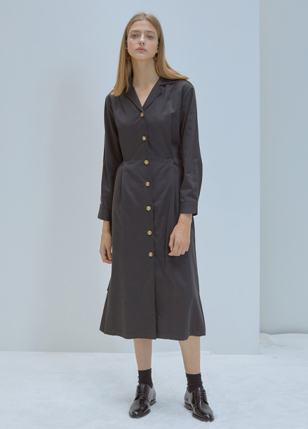 [5%할인/ANEDIT]F OP COLLAR DRESS_BK