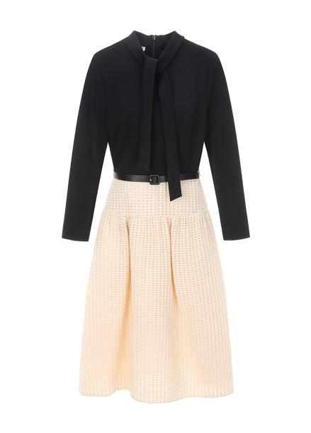 Tie Punching Skirt Dress