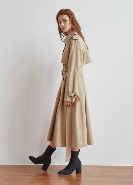 [5%/VEMVER] SINGLE BUTTON TRENCH COAT_BEIGE
