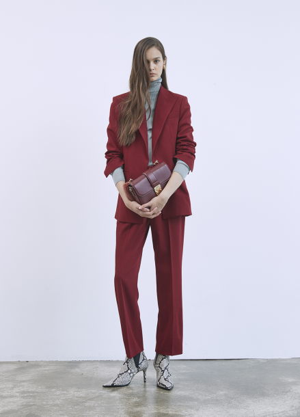 Wine Wool Pants