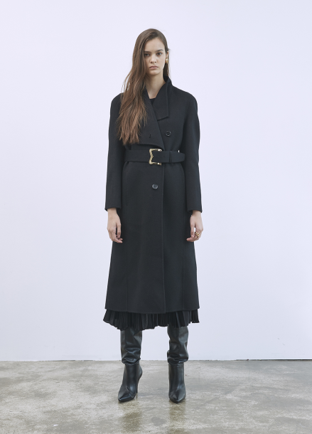 Collar Belt Coat