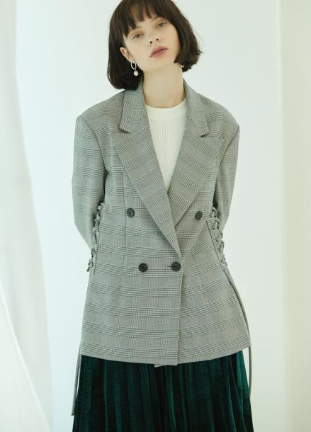 [5%할인/CLUE DE CLARE] corset jacket Check