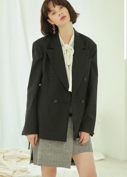 [5%할인/CLUE DE CLARE] corset jacket Black