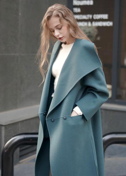 [5%할인/PINBLACK] SLIT HANDMADE COAT BLUE