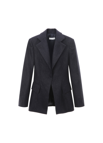 Wool Cashmere Blended Stripe Jacket