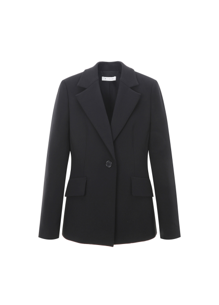 Wool Blended Single Button Jacket