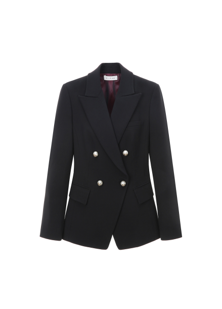 Pearl Button Wool Jacket