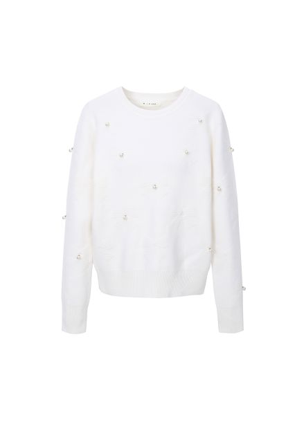 Pearl Wool Blended Pullover