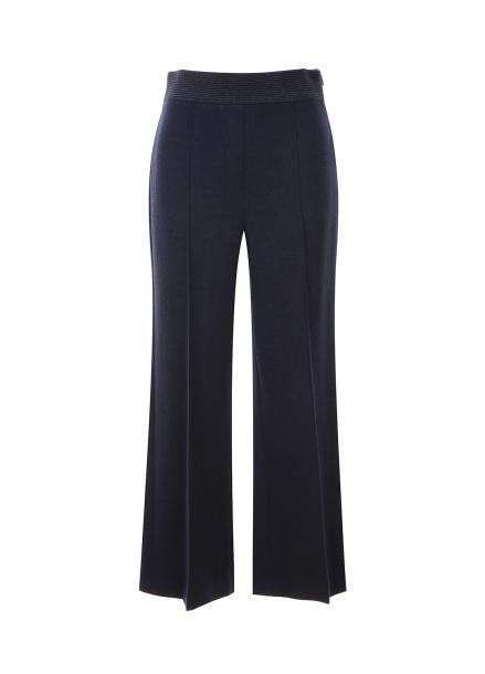Pintuck Detail Wool Pants