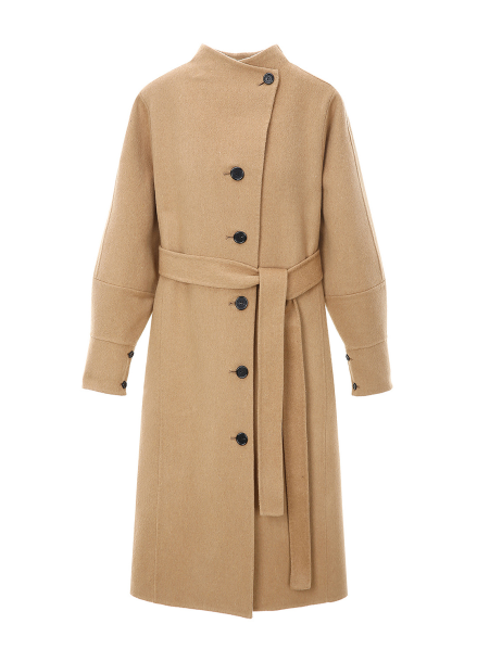 Yoke Sleeve Wool Blended Coat