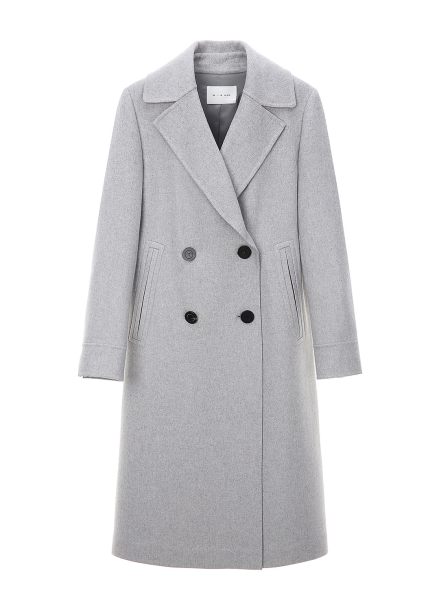Lip Pocket Cashmere Double Coat