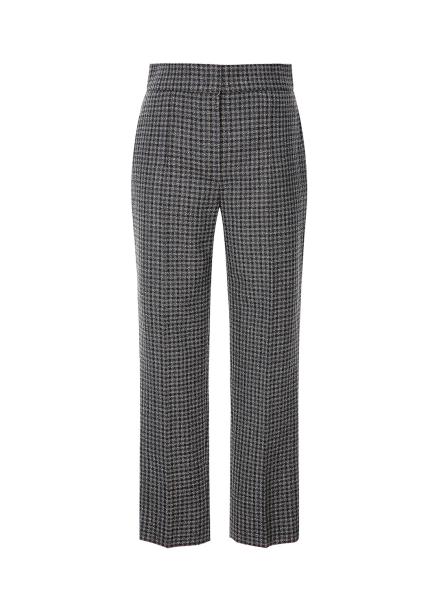 Check Pattern Wool Pants
