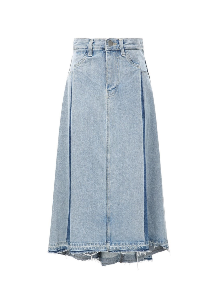 Denim A Line Skirt