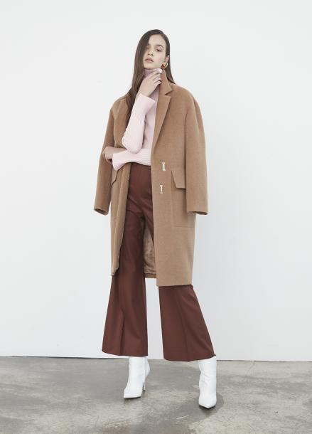 Big Pocket Alpaca Coat