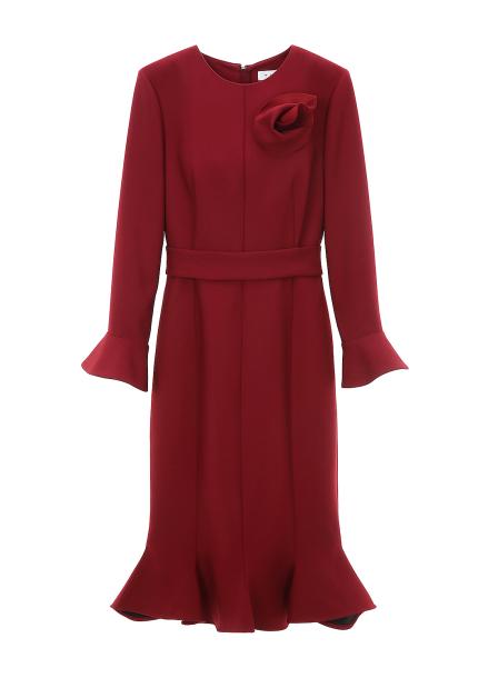 Broach Wool Dress