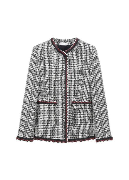 Regular-fit Check Tweed Jacket