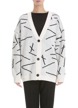 Wool Blend Ribbed Cardigan
