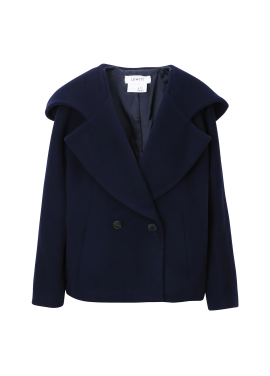 Wide Collar Hooded Jacket
