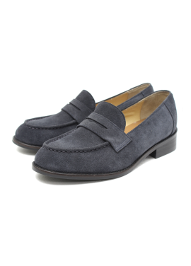[W]Smart Loafer_Navy suede
