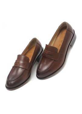 [W] Smart Loafer_Handfinish Dark brown