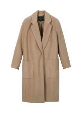 Wool Blend Side Slit Coat