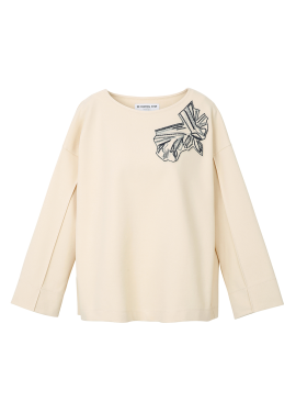 Patch Point Cotton-Blend T-Shirt