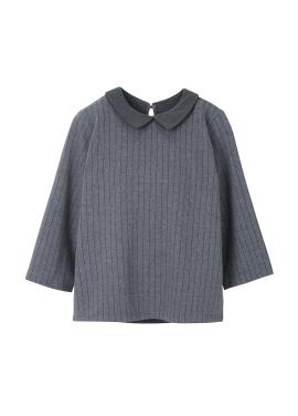 Striped Three-quarter Sleeve Shirt