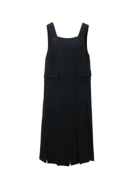 Pleats Chiffon Overall Dress