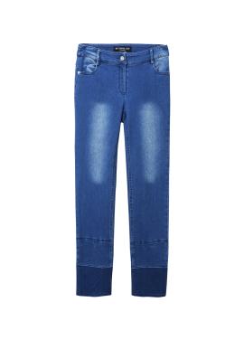 Hem Colorblock Denim Pants