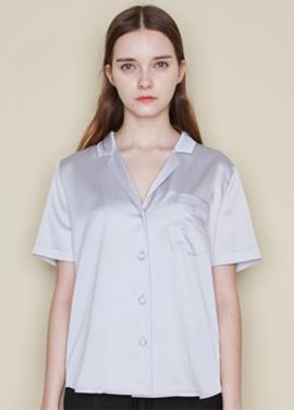 [CLUE DE CLARE/클리어런스40%SALE] lettering blouse_GREY