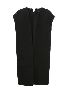 Collarless Basic Vest